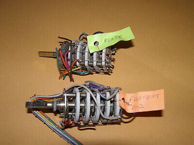 Plate And Filament Selector Switch From Tv-7u Military Tube Tester