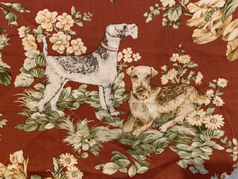 BLOOMCRAFT Lakeland Terrier Golden Retriever Cocker Spaniel Dog Fabric Flowers
