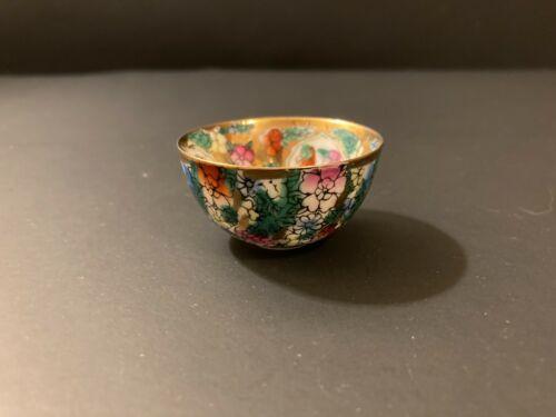 Vintage Rose Medallion Tea/Saki Cup or Small Bowl