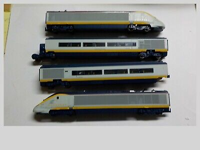 HO Hornby Eurostar 4 Unit Passenger Train Set In Excellent Condition Rare In US