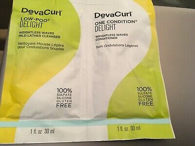 DEVACURL Loo Poo & one condition weightless waves 30ml x 2- NEW