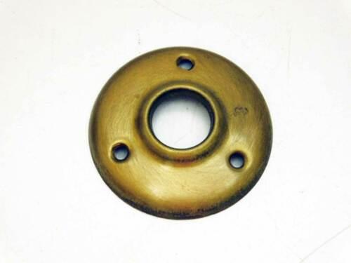 Five Brass Vintage Door Knob Rosettes In One Lot, Original Finish