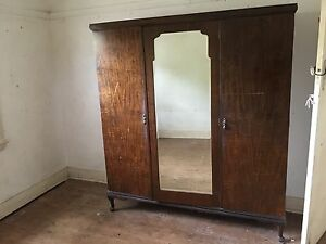 Large 3 door solid Queen Anne legged wardrobe Chatswood Willoughby Area Preview