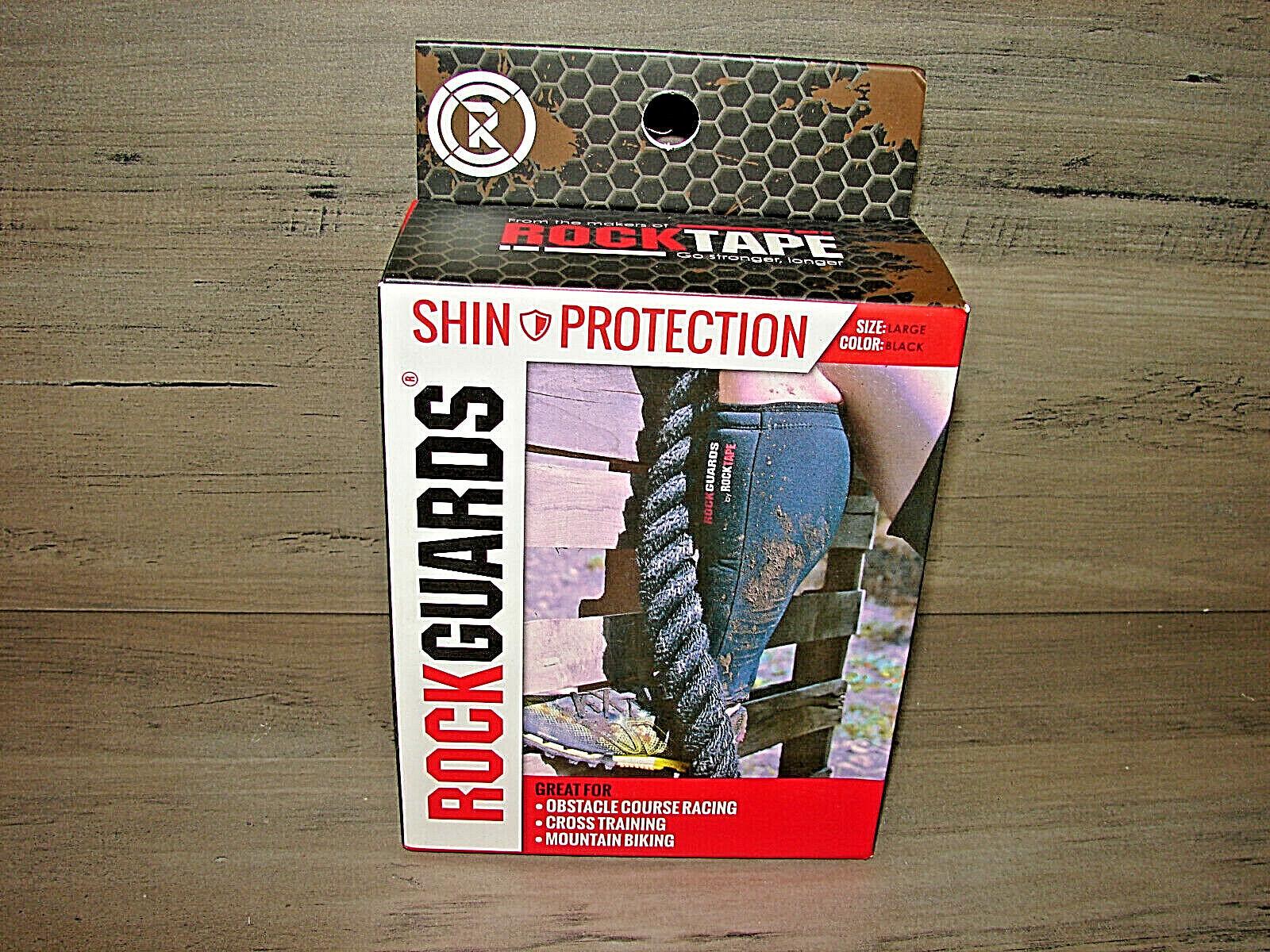 RockTape RockGuards Protection Shin Guards  Large *** NEW **