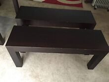 Two solid wood seats Brighton East Bayside Area Preview