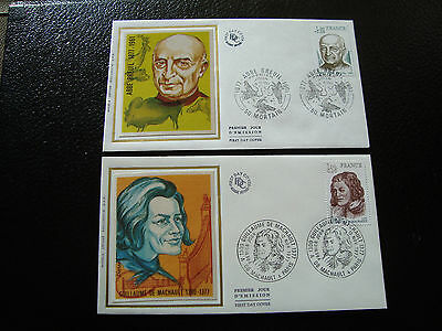 FRANCE - 2 envelopes 1st day 1977 (cy11) french (A)