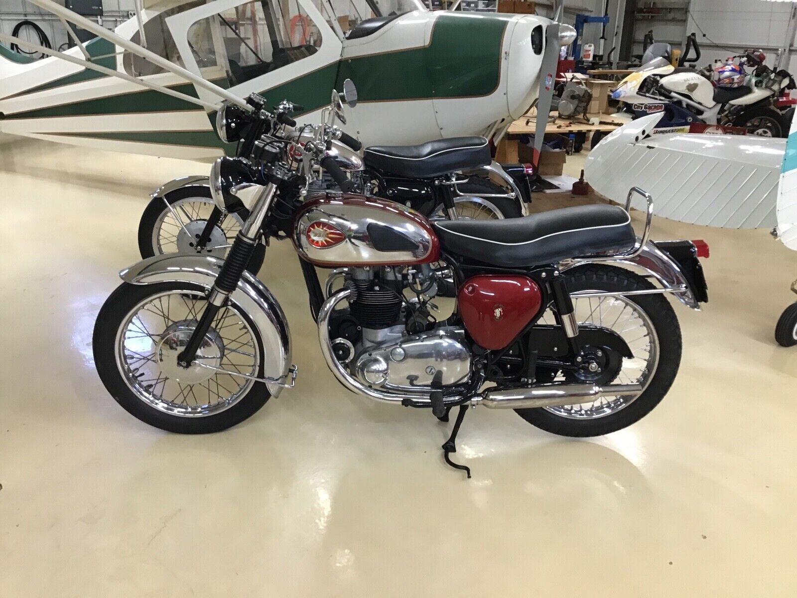 1963 BSA  1963 BSA A10 SUPER ROCKET    CHINESE RED