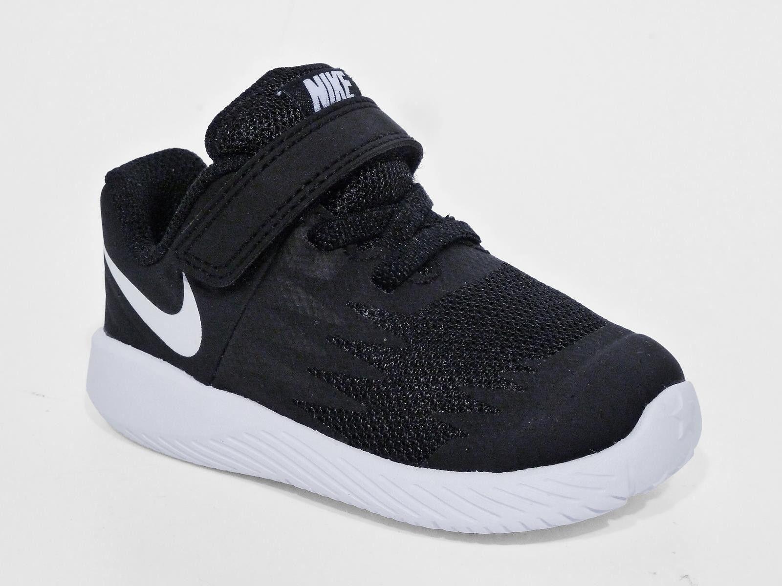 newest bac0b cd012 Nike Star Runner TDV Black White Toddler Infant Baby Shoes Sneakers ...