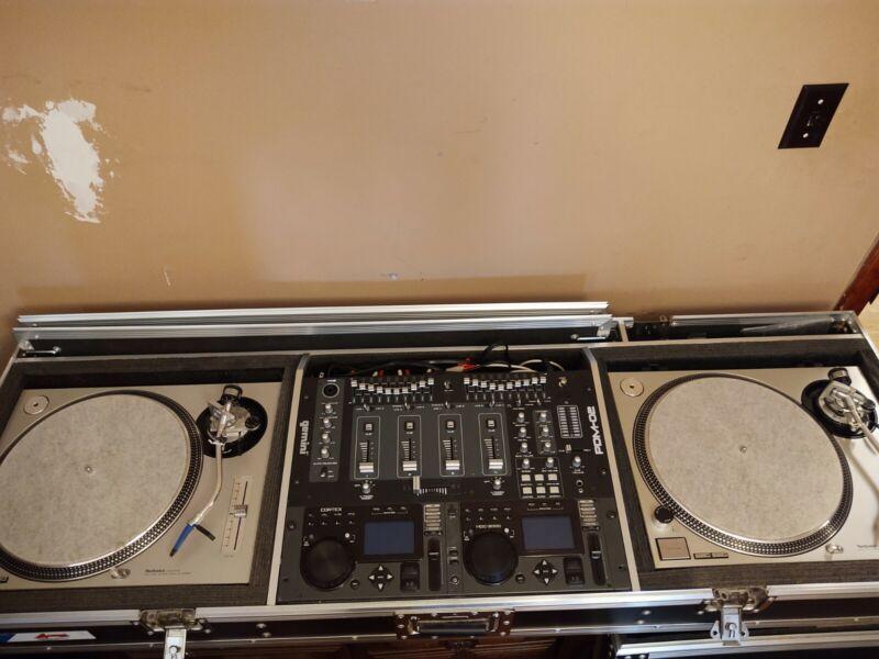 Mobile DJ Coffin/Stand, Technics Turntables, DJ Mixer, Digital Media Controller