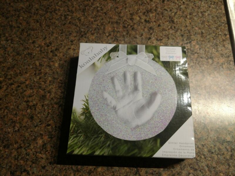 Koala Baby Hand Print Glitter Ornament New in Box Memories