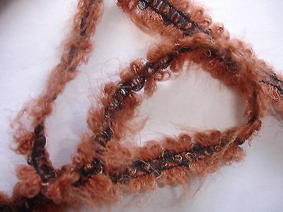 5m Mohairborte 0,55€/m braun elastisch 1,8cm breit K10.16