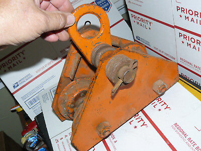 Yale Towne Model Fw 12 Ton I Beam Trolley Pulley Hoist Support Adjustable