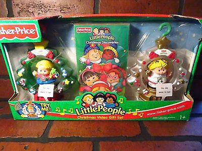 Fisher Price LITTLE PEOPLE Christmas Video Gift Set NEW 2003
