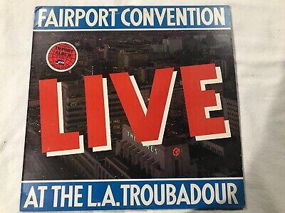 FAIRPORT CONVENTION LIVE AT THE TROUBADOUR ISLAND 1977 UK IMPORT EXCELLENT