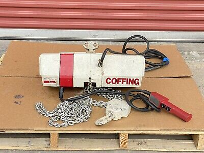 2 Ton Electric Chain Hoist Coffing Ec 4008 -3 15 Lift -3 Phase 230460