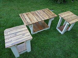 Hand made coffee and end tables