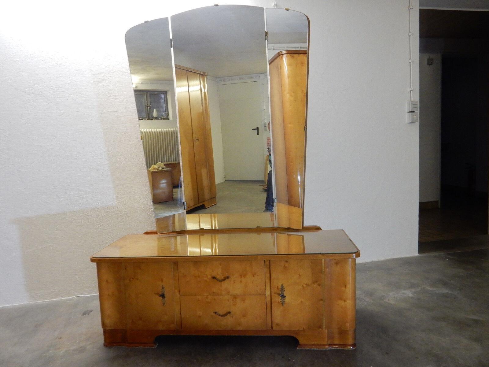 schlafzimmer aus den 50er jahren bett schrank spiegelkommode 2 nachtk stchen eur 469 00. Black Bedroom Furniture Sets. Home Design Ideas