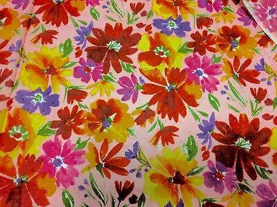 Swiss Dot Daisies Floral Print Rose Pink 100% Cotton 43
