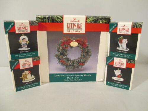 Little Frosty Friends Memory Wreath & Mini Ornament Set of 4 Hallmark Keepsake
