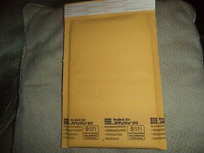 Lot Of 10 Pcs Jiffylite R0 Bubble Mailers By Sealed Air. Padded Envelopes 6x10