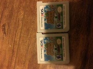 2 Animal Crossing New Leaf 3DS games