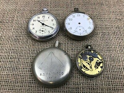 JOB LOT VINTAGE INGERSOLL MILITARY POCKET WATCHES-SPARES & REPAIRS PARTS