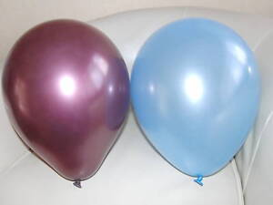 Claret & Blue Football Balloons - Aston Villa Colours / Party Decorations x 12