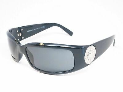 Versace MOD.4044-B GB1/87 Polished Black Silver Coin w/Grey lenses 60-15