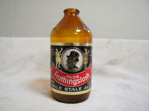 Old Frothingslosh Amber Beer Bottle Pale Stale Ale Sir Reggie Pittsburgh Pa