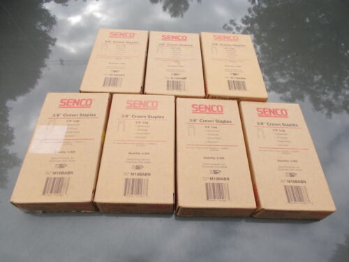 1 BOX SENCO 3/8 CROWN STAPLES 5/8 LEG 18 GAUGE GALVANIZED CHISEL POINT SENCOTE