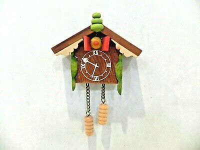 Vintage Ulbricht Cuckoo Clock German Wooden Christmas Ornament