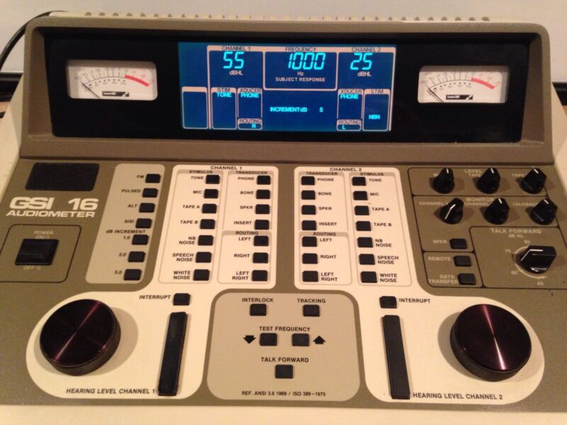 GSI 16 Audiometer with New Display, No Accessories