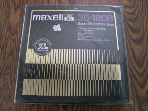 MAXELL UD-XL 35-180B SOUND RECORDING TAPE HI-OUTPUT/EXTENDED RANGE - READ AD