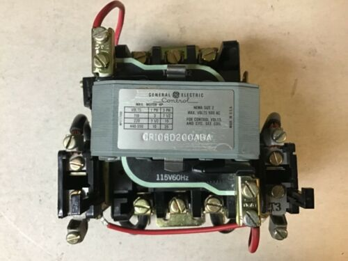 General Electric GE CR106D200ABA Size 2 Motor Starter With 115 Volt Coil