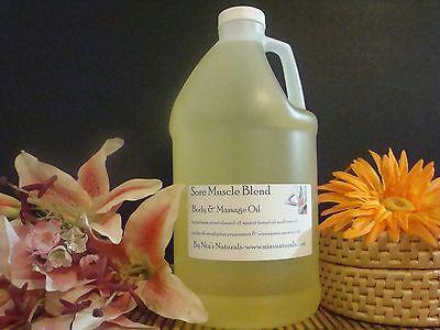 Sore Muscle (Sore Muscle Blend Massage Oil 64oz/Half Gallon Eucalyptus/Peppermint/Wintergreen )