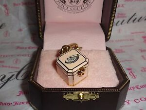 New Juicy Couture Jewelry Box Charm for Bracelet Necklace Keychain