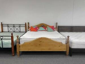 FREE DELIVERY STRONG SOLID WOODEN King bed & COMFORT mattress