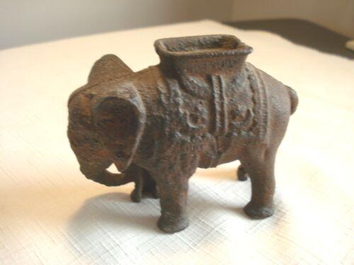 Vintage....Cast....Iron....Elephant....Bank....Mystery...Coins.?..Inside.