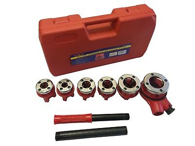 Ratchet Pipe Threader Set (NEW RATCHET PIPE THREADER KIT SET RATCHETING W/6 DIES AND CASE GAS FREE)