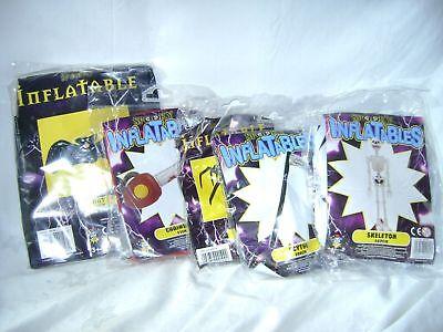Neu 5 Aufblasbar Halloween Spielzeug Fledermaus Spinne Skelett Sensen Kettensäge ()