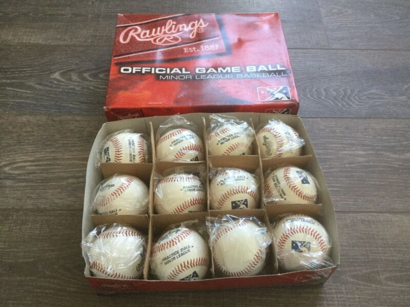Case Of NEW Rawlings Official Minor League Baseball Practice Balls (12)