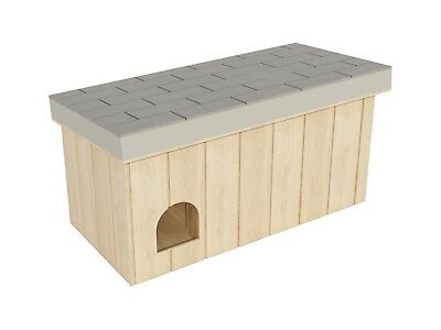 Wooden Dog House Plans DIY Medium Size Pet Shelter Outdoor Doghouse Kennel Home