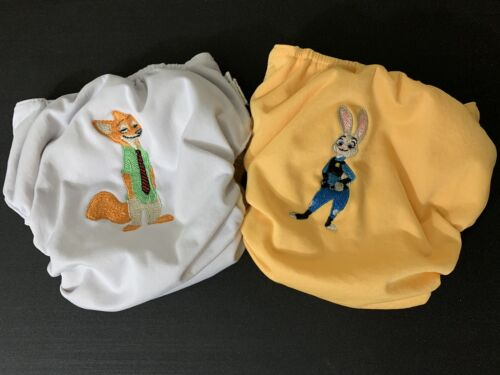 Hand-Embroidered Zootopia BumGenius One Size All-in-One Cloth Diapers - $20.00