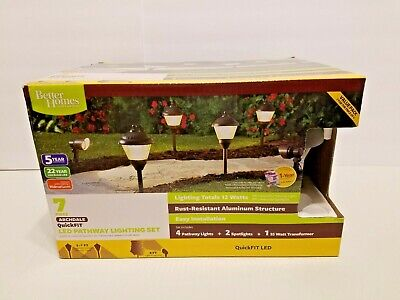 BETTER HOMES & GARDENS 35W QuickFIT Transformer + 6 LED Pathway Lights (Best Outdoor Lighting Transformer)