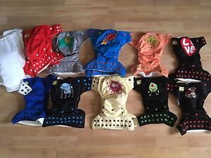 Lot of Little Monsters Cloth Diapers