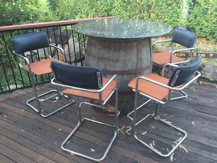 Outdoor setting wine barrel.  Caloundra Caloundra Area Preview