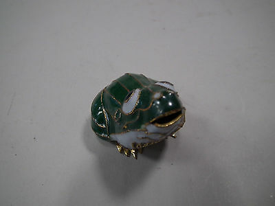 Cloisonne Frosch Emaille China / Japan  ca 50 x 35 mm  Höhe ca 40 mm