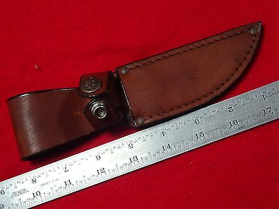 """Case XX Brown Leather fixed blade knife sheath. 4"""" or shorter blade."""