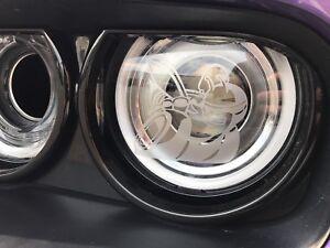 4 Dodge Scat Pack Bee Logo Headlight Decals Vinyl Sticker Charger Challenger