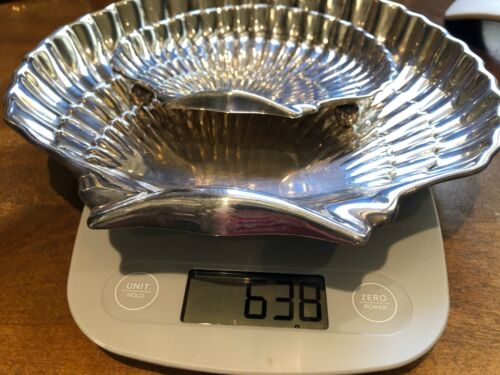 TWO GORHAM STERLING SILVER  #42677 and #40617 Scalloped Shell Footed Bowl Tray